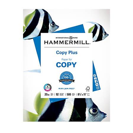 "Hammermill® Paper, Copy Plus, Letter Size (8 1/2"" x 11""), 20 Lb, Ream Of 500 Sheets"