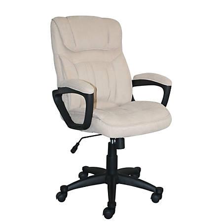 Serta Style Hannah I High-Back Office Chair, Microfiber, Comfort Beige/Black