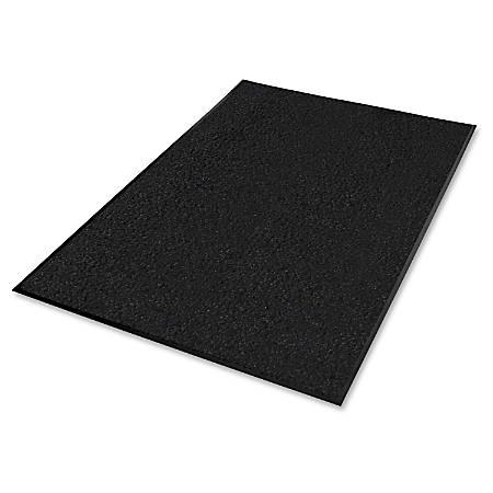 Genuine Joe Platinum Series Walk-Off Indoor Mat, 3' x 5', Black