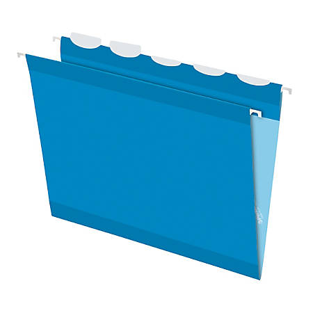 Pendaflex® Ready-Tab™ Reinforced Hanging Folders, With Lift Tab Technology, 1/5 Cut, Letter Size, Blue, Pack Of 25