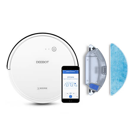 Ecovacs Robotics DEEBOT 600 Rechargeable Bagless Smart Vacuum, White