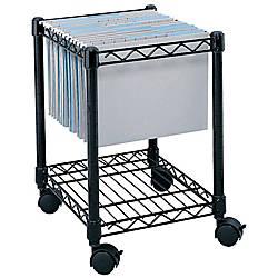 Safco Rolling Cart LetterLegal Black