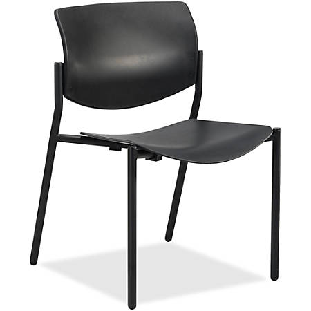 Lorell™ Molded Plastic Stacking Chairs, Black, Set Of 2 Chairs