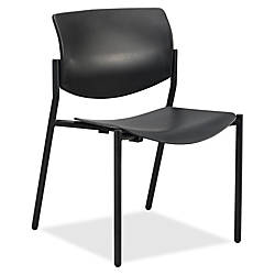 Lorell Molded Plastic Stacking Chair Armless