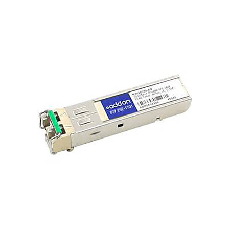 AddOn Ciena NTK585BS Compatible TAA Compliant 1000Base-DWDM 100GHz SFP Transceiver (SMF, 1544.53nm, 80km, LC, DOM)