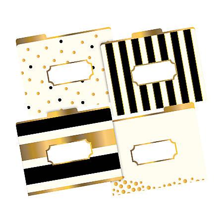 "Barker Creek Tab File Folders, 8 1/2"" x 11"", Letter Size, Gold, Pack Of 12"