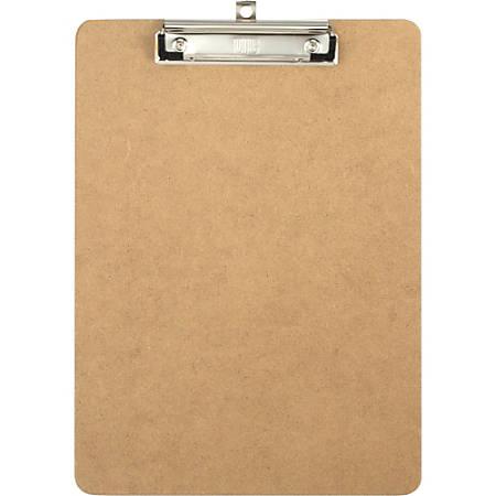 "OIC Low-profile Clipboard - 1"" Clip Capacity - 8 1/2"" x 11"" - Low-profile - Hardboard - Brown - 1 Each"
