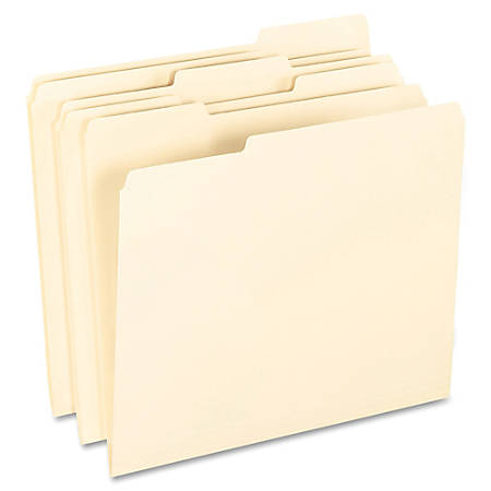 Pendaflex® Smart Shield™ File Folders, Letter Size, Manila, 1/3 Cut Tabs
