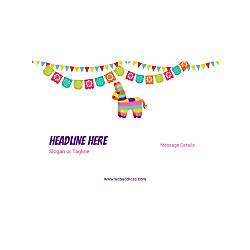 Custom Poster Horizontal Cinco de Mayo