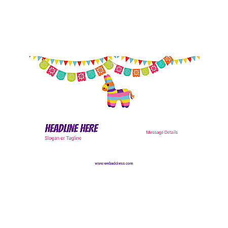 Custom Poster, Horizontal, Cinco de Mayo Bunting