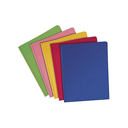 Oxford® Fashion Polyport Portfolios, Letter Size, Assorted Colors, Box Of 25 Portfolios