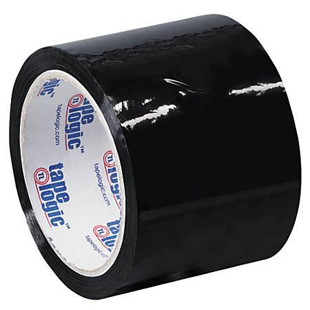 """Tape Logic® Carton-Sealing Tape, 3"""" Core, 3"""" x 55 Yd., Black, Pack Of 24"""