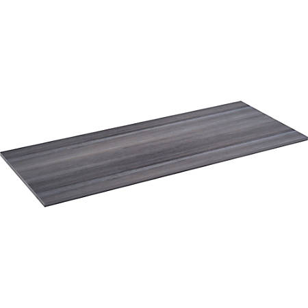 """Lorell® Relevance Series Desk Top, 72""""W x 29 1/2""""D, Charcoal"""