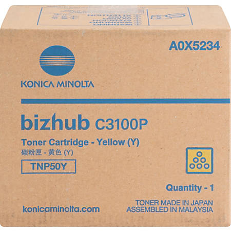 Konica Minolta TNP-50Y - Yellow - original - toner cartridge - for bizhub C3100P