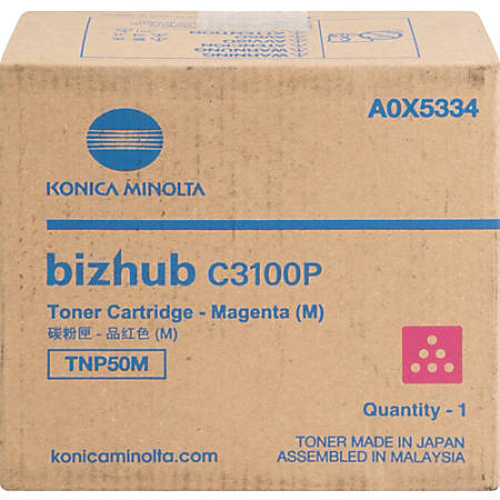 Konica Minolta TNP50M Toner Cartridge - Magenta - Laser - 6000 Pages - 1 Each