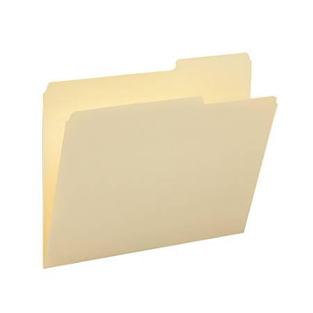 Smead® Manila File Folders, Letter Size, 10% Recycled, Manila, Box Of 100
