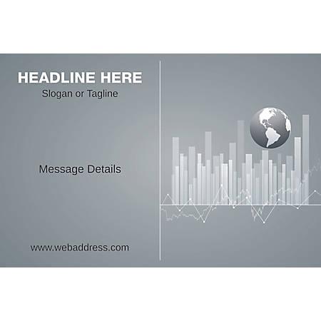 Adhesive Sign, Business Globe, Horizontal