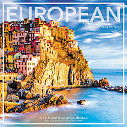 Landmark European Destinations Monthly Wall Calendar
