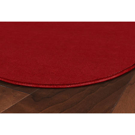 "Flagship Carpets Americolors Rug, Oval, 7' 6"" x 12', Rowdy Red"