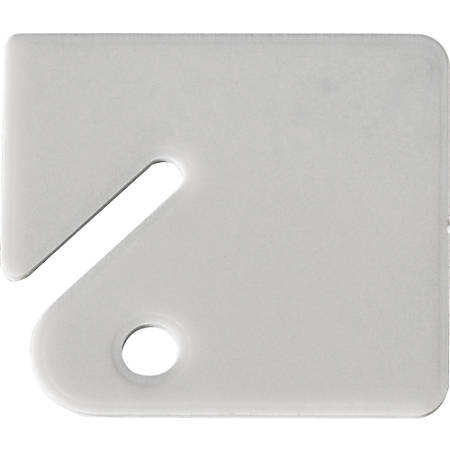 FireKing Prepunched Key Tags - Square - 20 / Bag - White