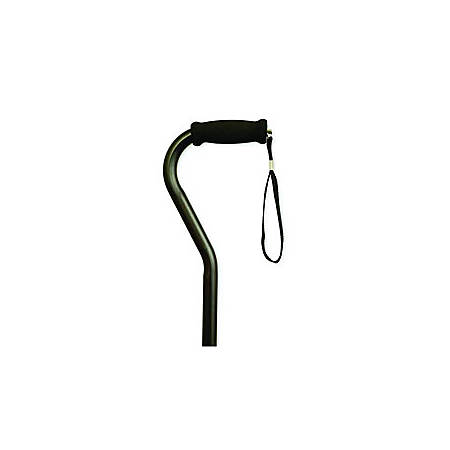 Offset Handle Aluminum Cane, Black