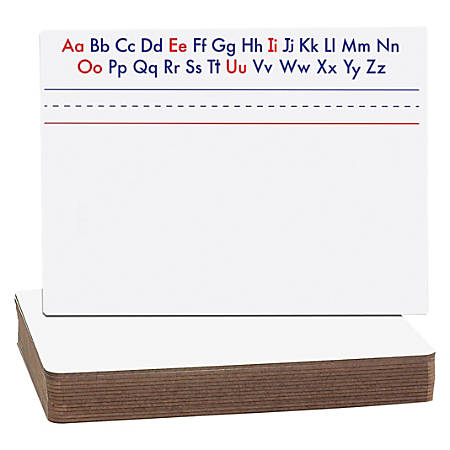 """Flipside Alphabet Magnetic Dry-erase Board - 12"""" (1 ft) Width x 9"""" (0.8 ft) Height - Red/White/Blue Surface - Rectangle - Assembly Required - 12 / Set"""