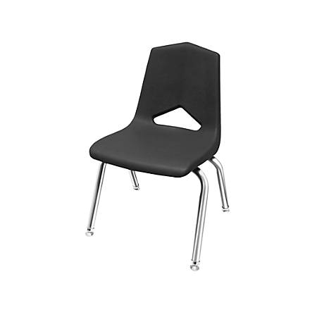 """Marco Group Stacking Chairs, 26""""H, Black/Chrome, Pack Of 6"""