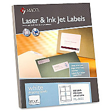 MACO White LaserInk Jet Shipping Label