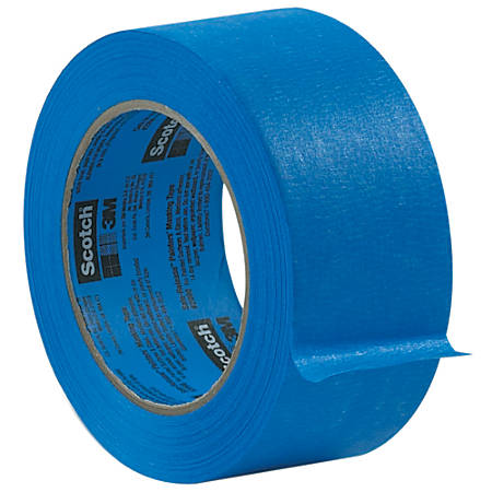 "3M™ 2080 Masking Tape, 3"" Core, 0.75"" x 180', Blue, Case Of 16"