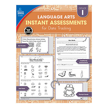 Carson-Dellosa Instant Assessments For Data Tracking Language Arts Resource Book, Grade 1