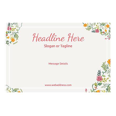 Custom Poster, Horizontal, Floral Design 6