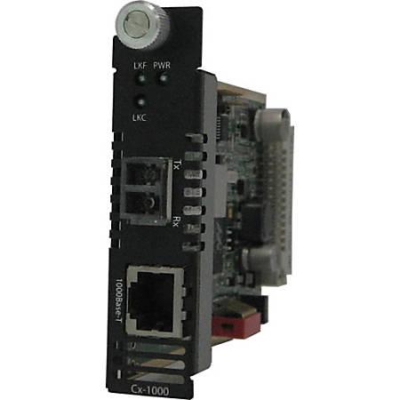 Perle CM-1000-S2LC160 Gigabit Ethernet Media Converter - 1 x Network (RJ-45) - 1 x LC Ports - DuplexLC Port - 1000Base-T, 1000Base-ZX - Internal