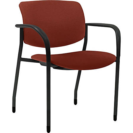 Lorell® Contemporary Stacking Chair, Orange/Black