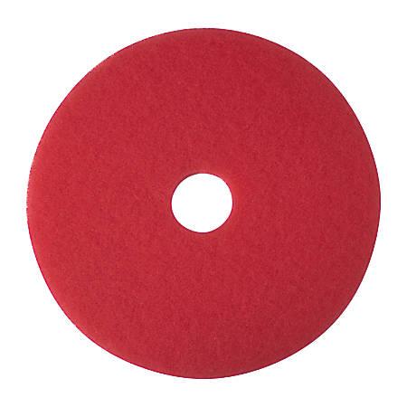 """Niagara™ 5100N Buffing Floor Pads, 14"""" Diameter, Red, Case Of 5"""
