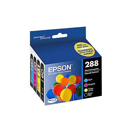 Epson 288 With Sensor - 4-pack - black, yellow, cyan, magenta - original - ink cartridge - for Expression Home XP-330, XP-340, XP-430, XP-434, XP-440, XP-446
