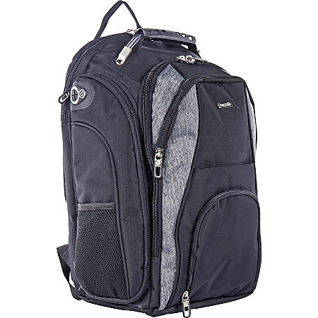 """bugatti Carrying Case (Backpack) for 17.3"""" Notebook - Black/Gray - Strain Resistant Interior - Shoulder Strap - 18"""" Height x 13"""" Width x 8"""" Depth"""