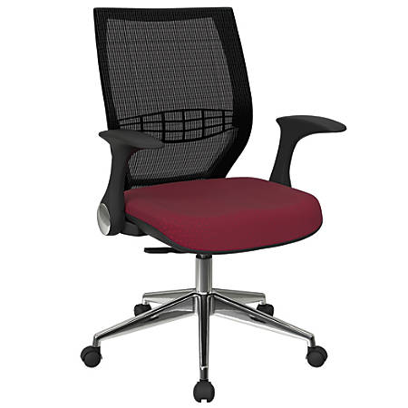 Office Star™ Pro-Line II ProGrid Fabric High-Back Chair, Cabernet/Black/Silver