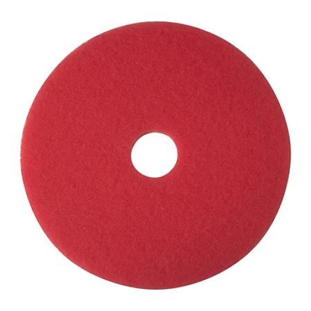 """Niagara™ 5100N Buffing Floor Pads, 19"""" Diameter, Red, Case Of 5"""