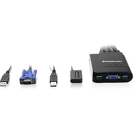 IOGEAR USB KVM Switch - 4 x 1 - 4 x HD-15 Video, 4 x Type A USB - Desktop