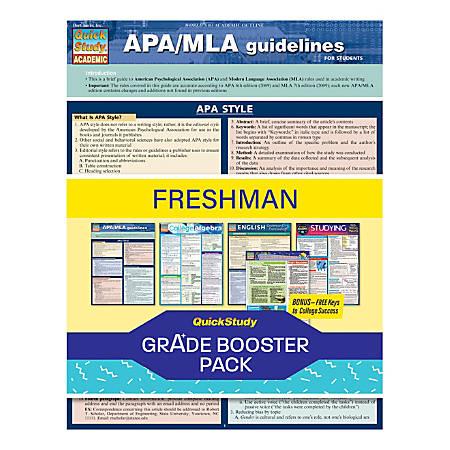 QuickStudy Grade Booster Pack, Freshman