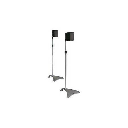 Atlantic Satellite Speaker Stands Adjustable Height,Titanium