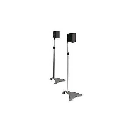 Atlantic Satellite Speaker Stands Adjustable Height,Titanium