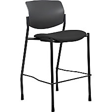 Lorell Contemporary Fabric Stool Black