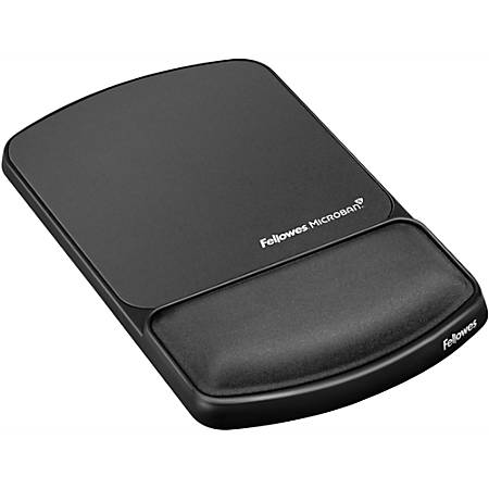 Fellowes Mouse Pad/Wrist Support with Microban Protection, Graphite