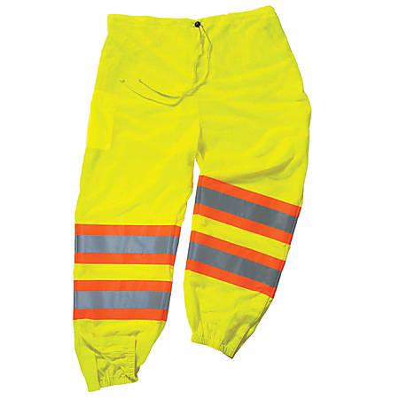 Ergodyne GloWear 8911 Class E Polyester 2-Tone Pants, Small/Medium, Lime