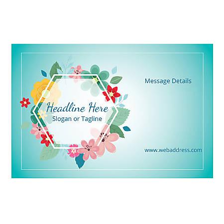 Custom Banner, Horizontal, Floral Hexagon