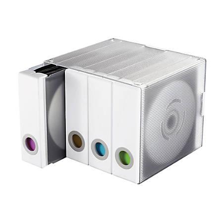 Atlantic Parade 96-Disc Storage Cube, White, ATL96635495
