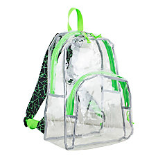 Eastsport Clear PVC Backpack BlackLime Geometric