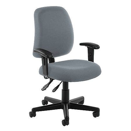 OFM Posture Series Fabric Mid-Back Task Chair, Gray
