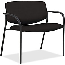 Lorell Bariatric Fabric Guest Chair Black